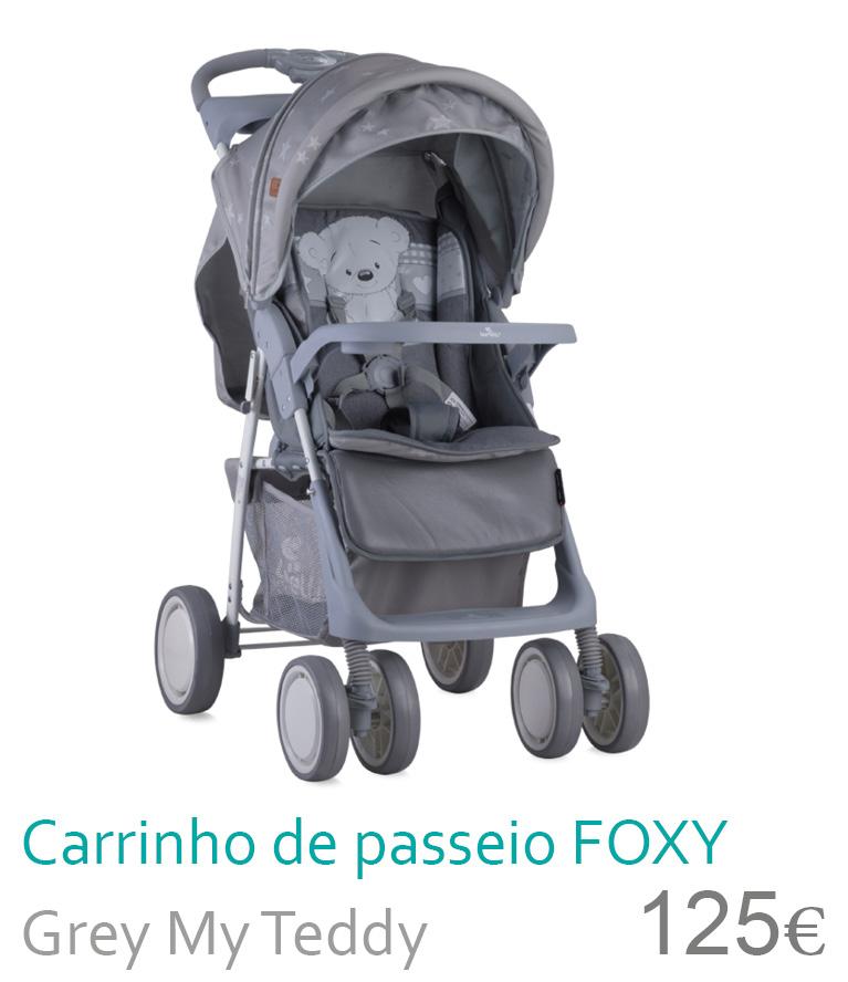 carrinho de passeio Foxy Grey my teddy