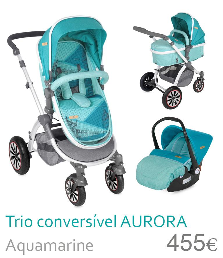 Carrinho Trio cenversível AURORA Aquamarine