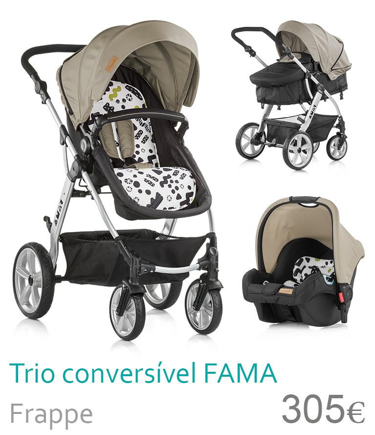carrinho trio conversível fama frappe