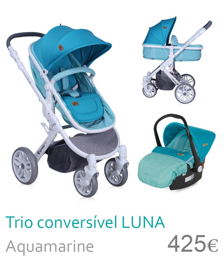 Carrinho Trio conversível LUNA Aquamarine