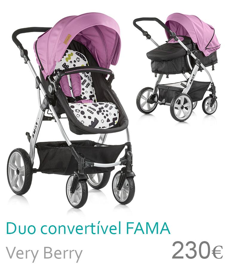 Carrinho Duo conversível FAMA Very Berry