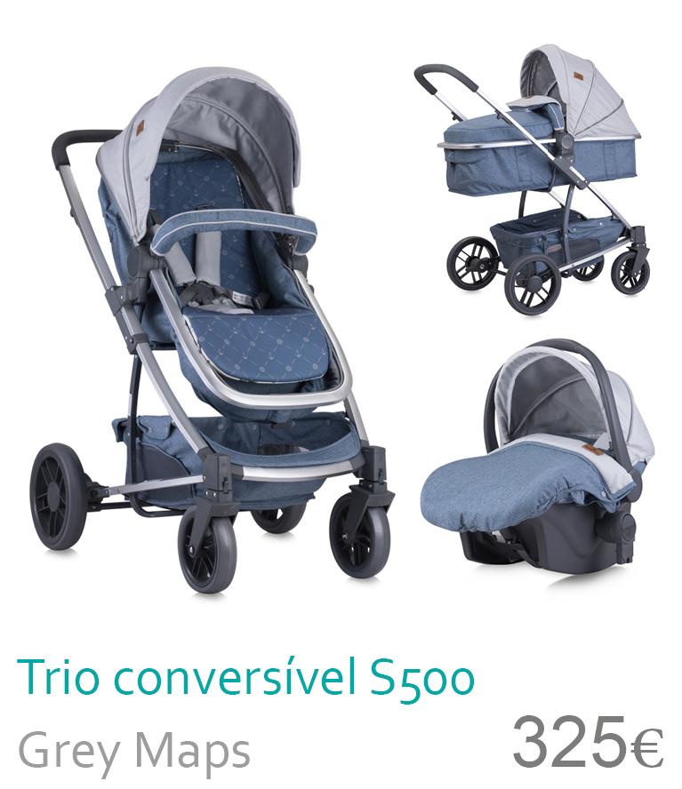 carrinho trio s500 grey maps