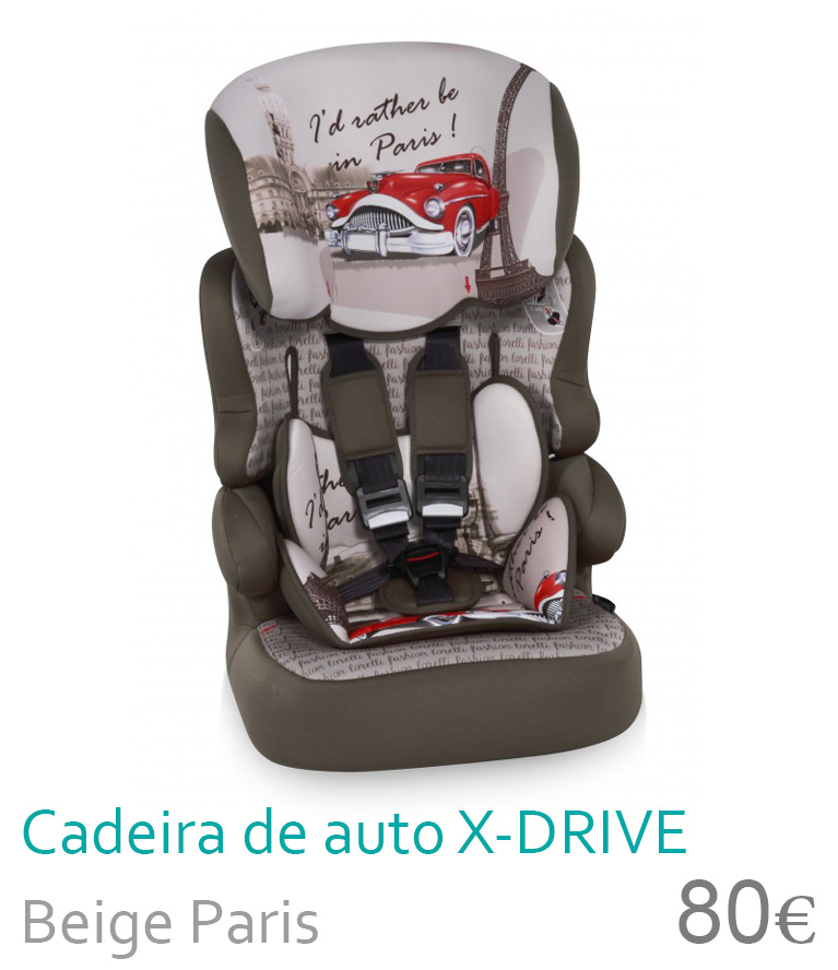 Cadeira de carro X-DRIVE Beige Paris