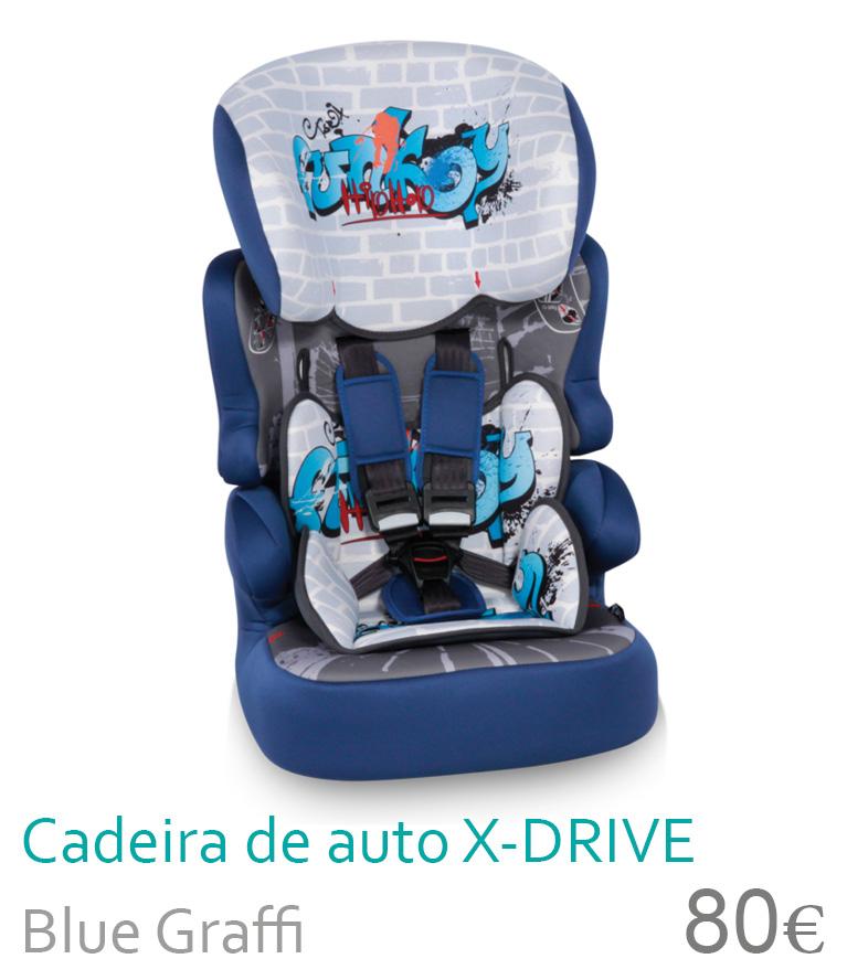 Cadeira de carro X-DRIVE Blue Graffite