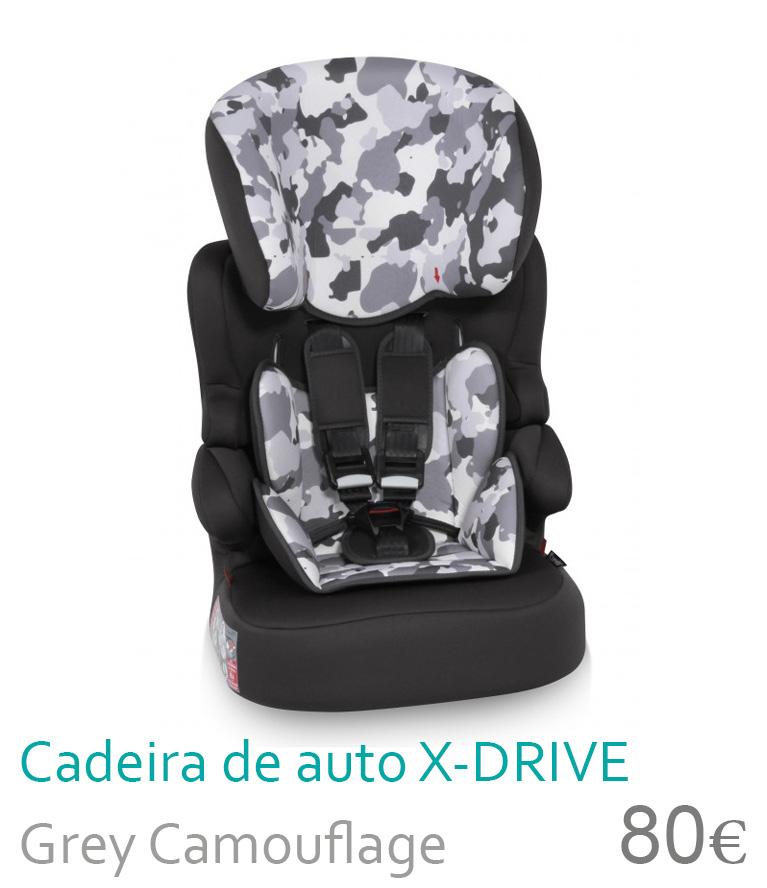 Cadeira de carro X-DRIVE Grey Camouflage