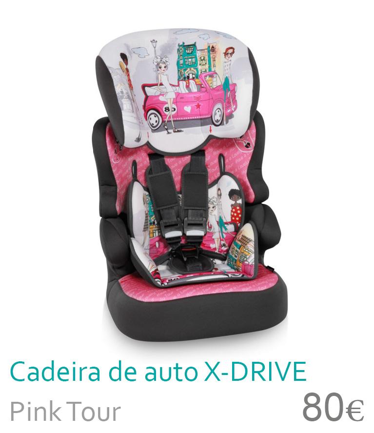 Cadeira de carro X-DRIVE Pink Tour