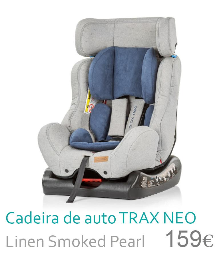 Cadeira de carro TRAX NEO Linen Smoked Pearl