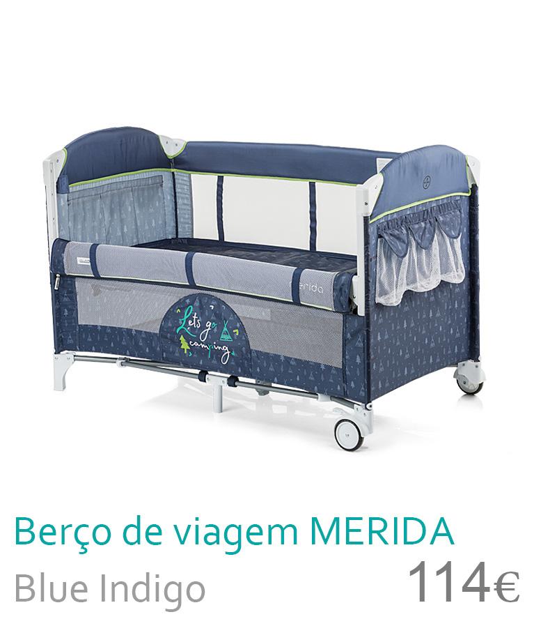 Berço de viagem MERIDA Blue Indigo