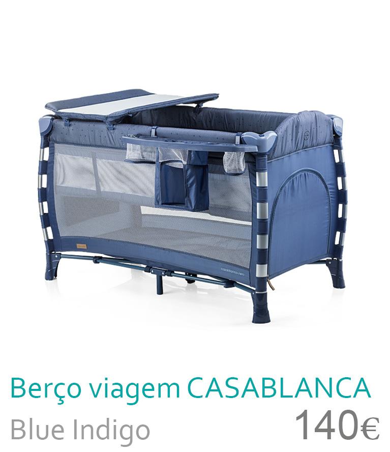 Berço de viagem CASABLANCA NEO Blue Indigo