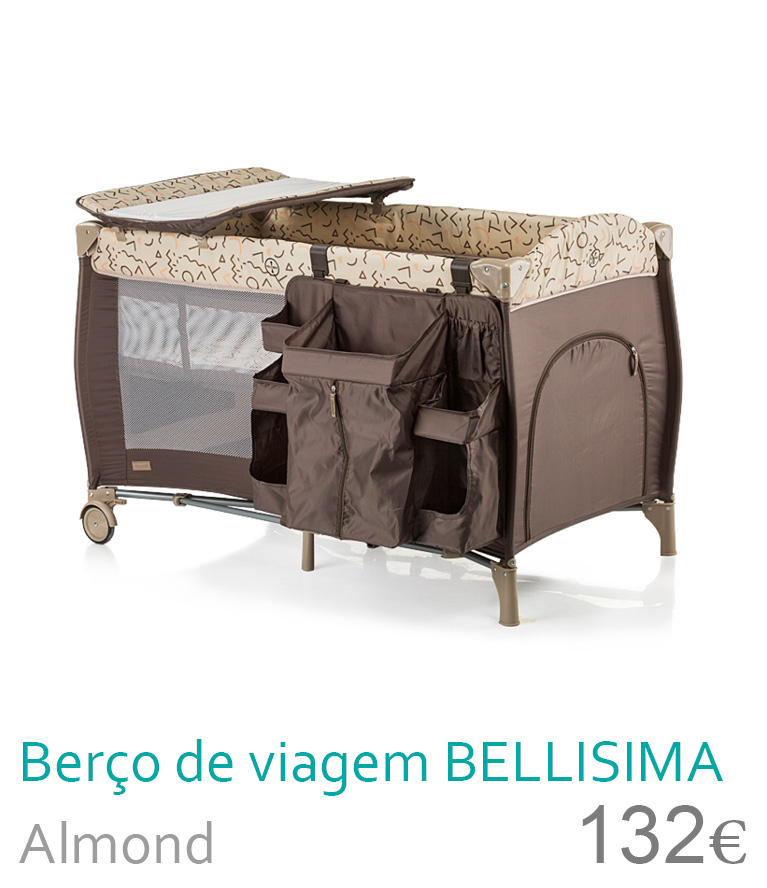 Berço de viagem BELLISIMA Almond
