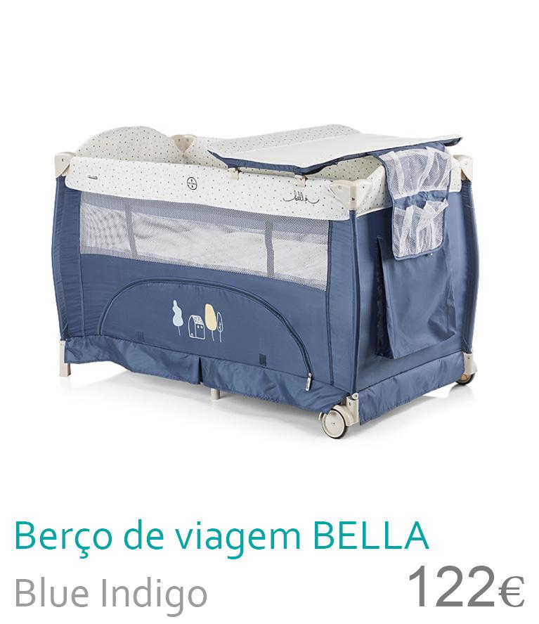 Berço de viagem BELLA Blue Indigo