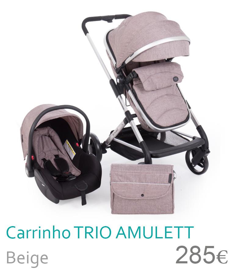 Carrinho trio convesível AMULETT Beige