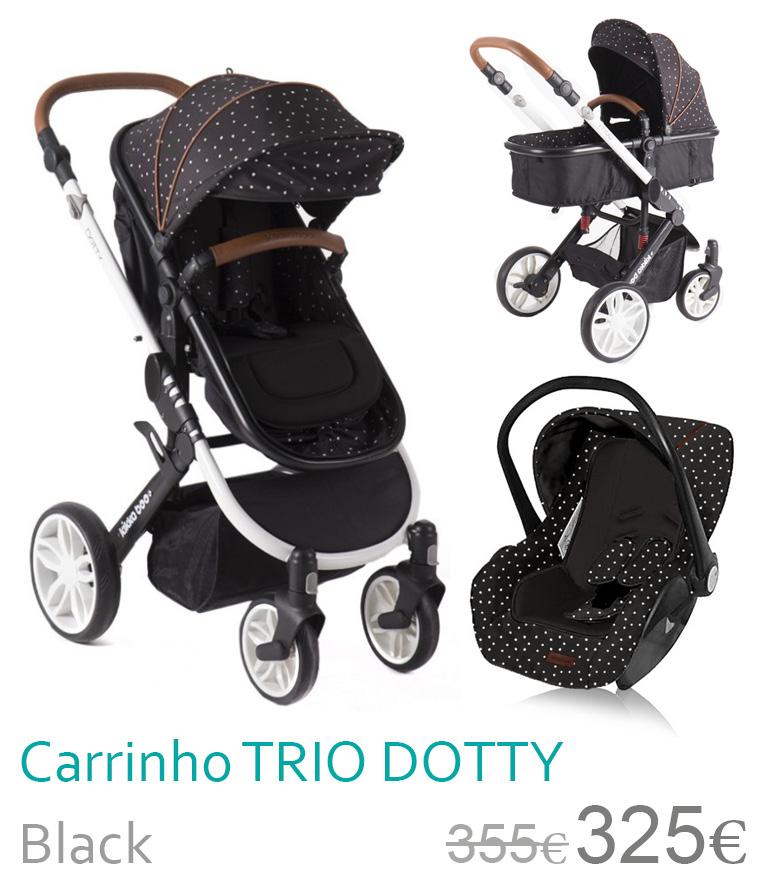 Carrinho trio conversível DOTTY Black