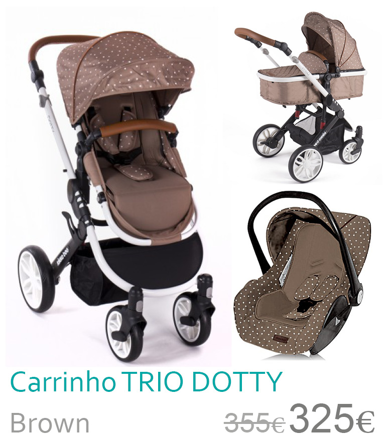 Carrinho trio conversível DOTTY Brown