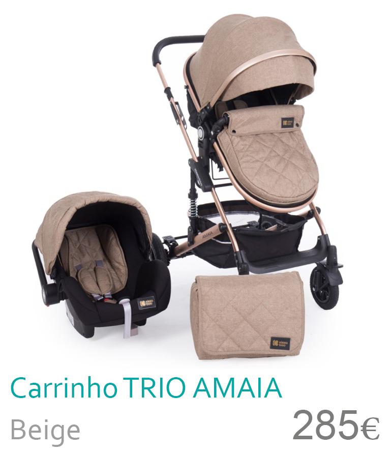 Carrinho trio conversível AMAIA Beige