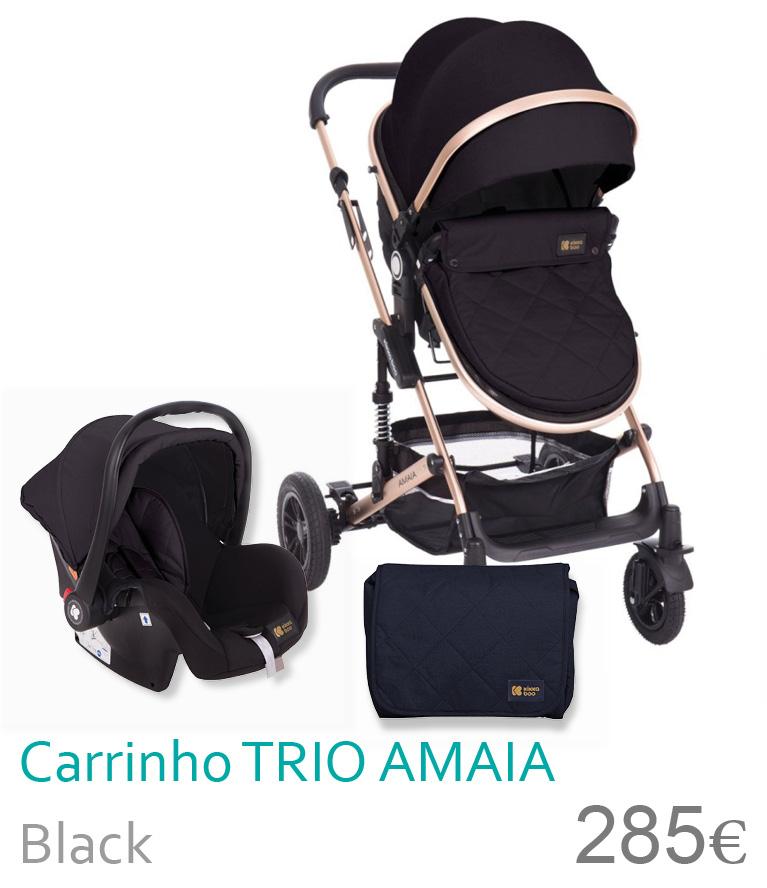 Carrinho trio conversível AMAIA Black