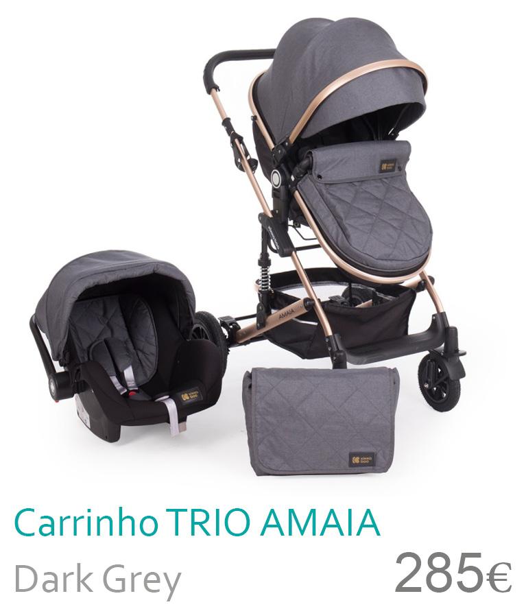 Carrinho trio conversível AMAIA Dark Grey
