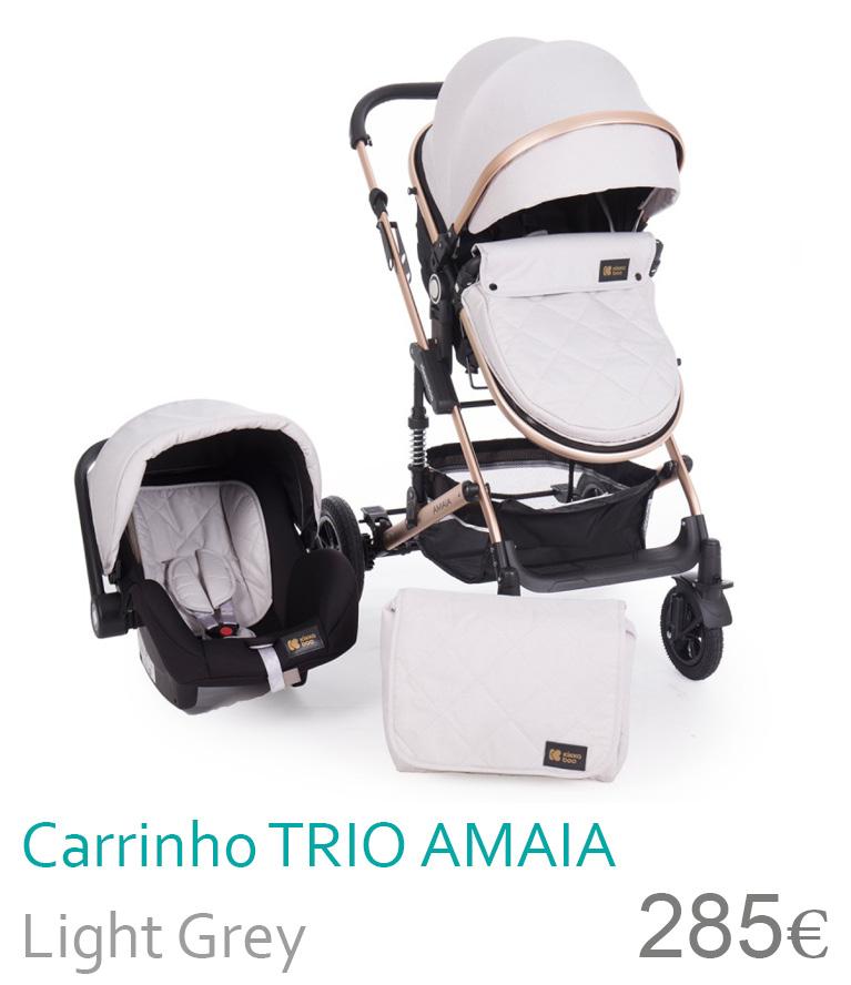 Carrinho trio conversível AMAIA Light Grey