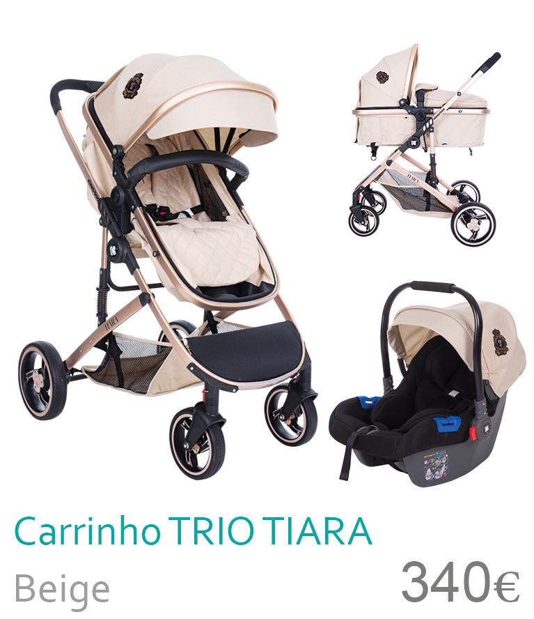 Carrinho trio conversível TIARA beige