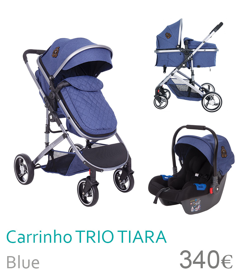 Carrinho trio conversível TIARA Blue