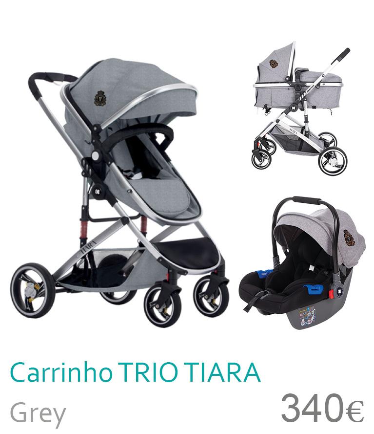 Carrinho trio conversível TIARA Grey