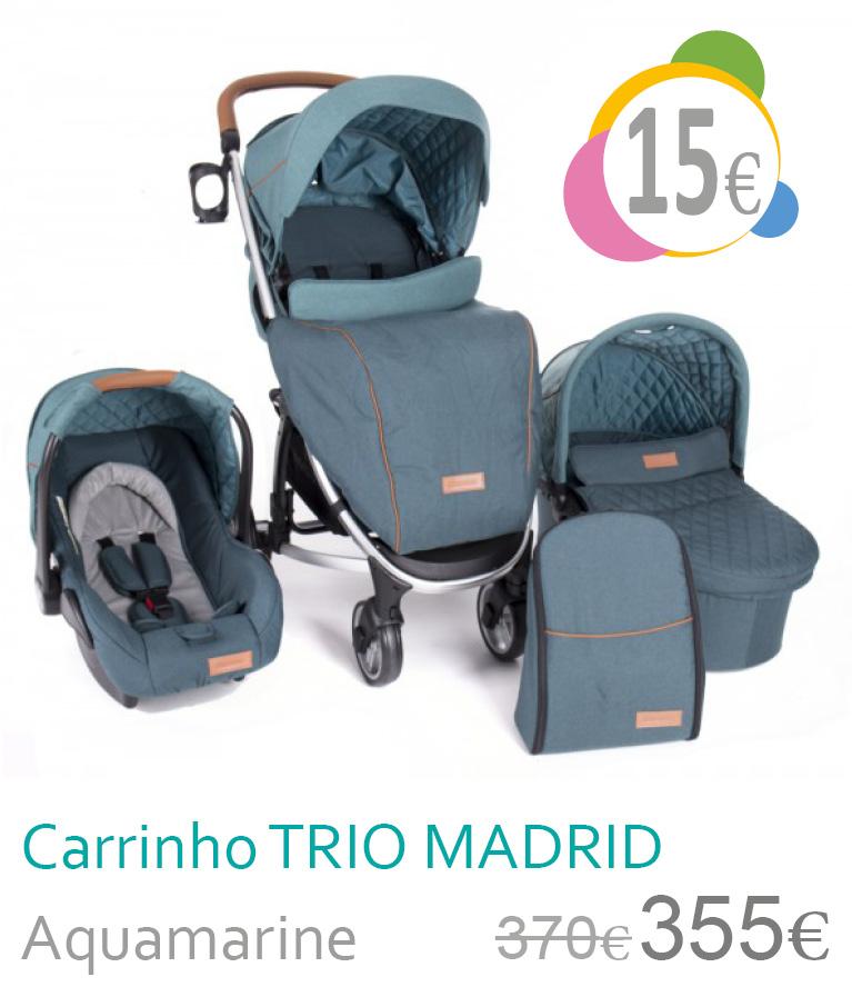 Carrinho trio conversível MADRID AquaMarine
