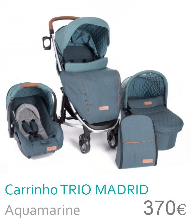 Carrinho trio Madrid Aquamarine