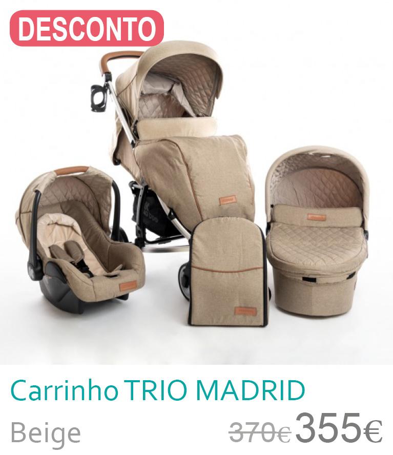 Carrinho trio Madrid Beige