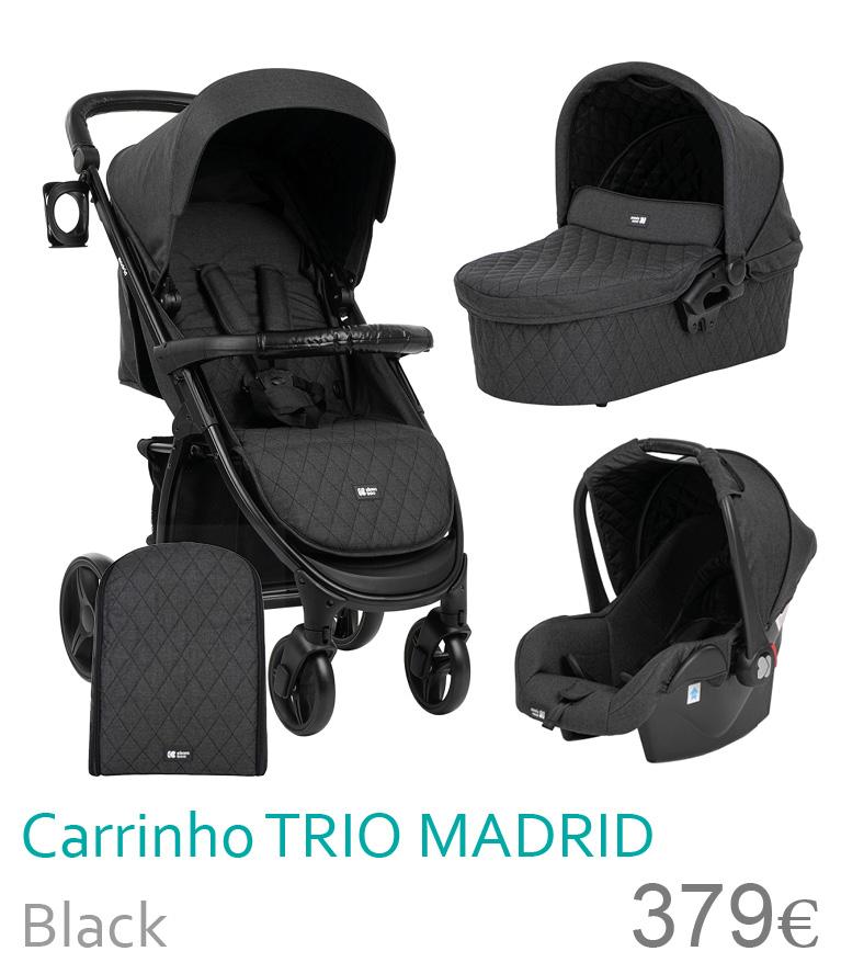 Carrinho trio MADRID Black