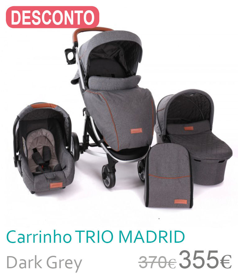 Carrinho trio MADRID Dark Grey