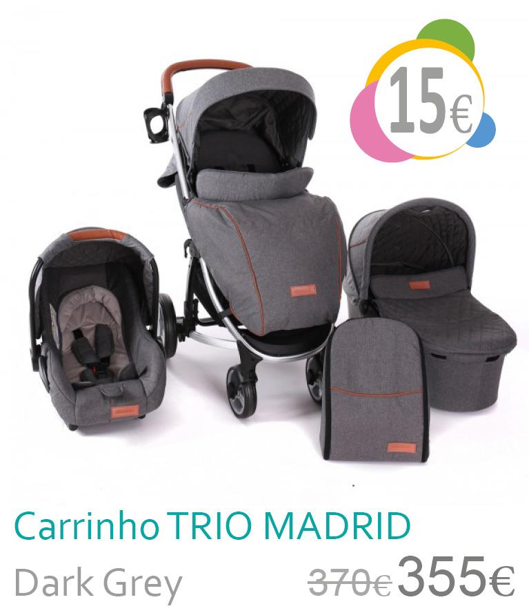 Carrinho trio conversível MADRID Dark Grey
