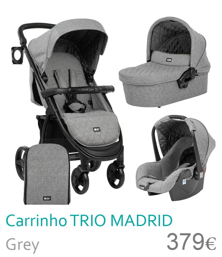 Carrinho trio MADRID Grey