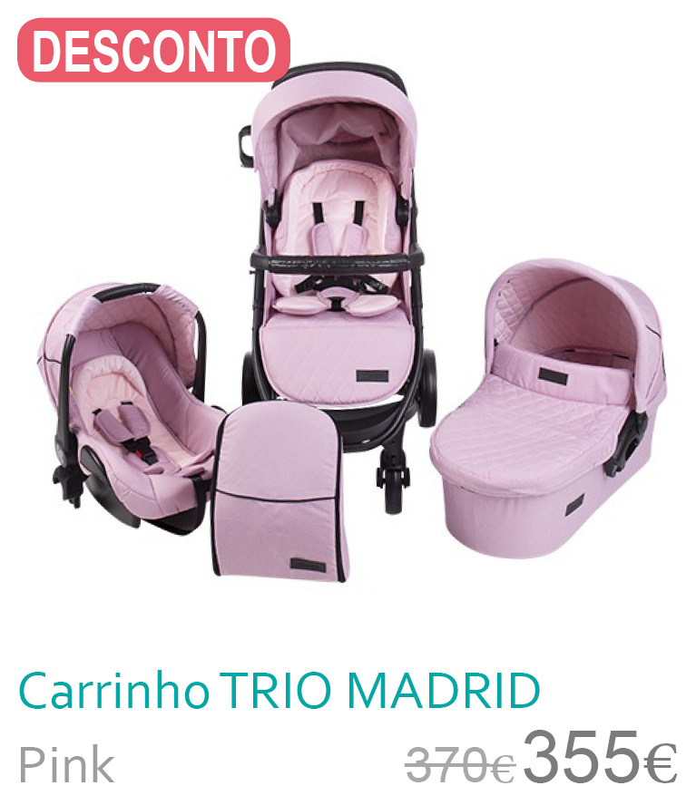 Carrinho trio MADRID Pink