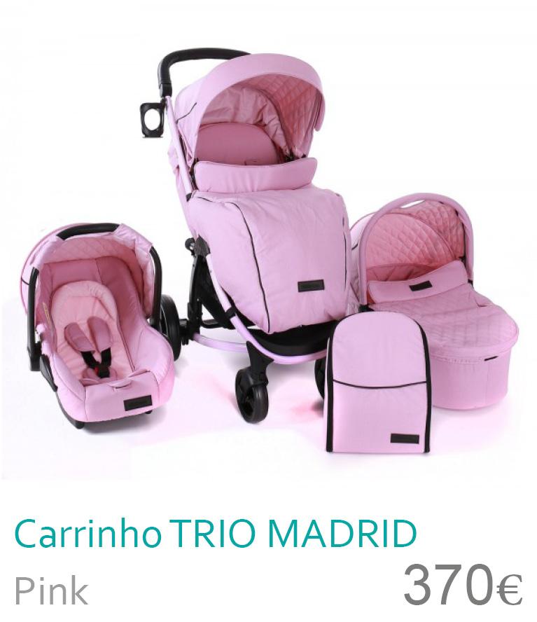 Carrinho trio Madrir Pink
