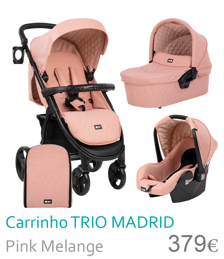 Carrinho trio MADRID Pink Melange