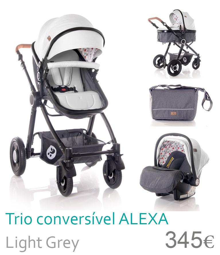 Carrinho trio conversível Light Grey