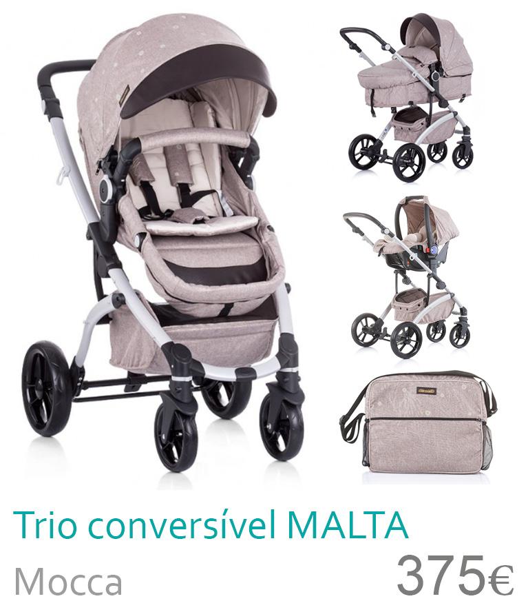 Carrinho trio conversível MALTA Mocca