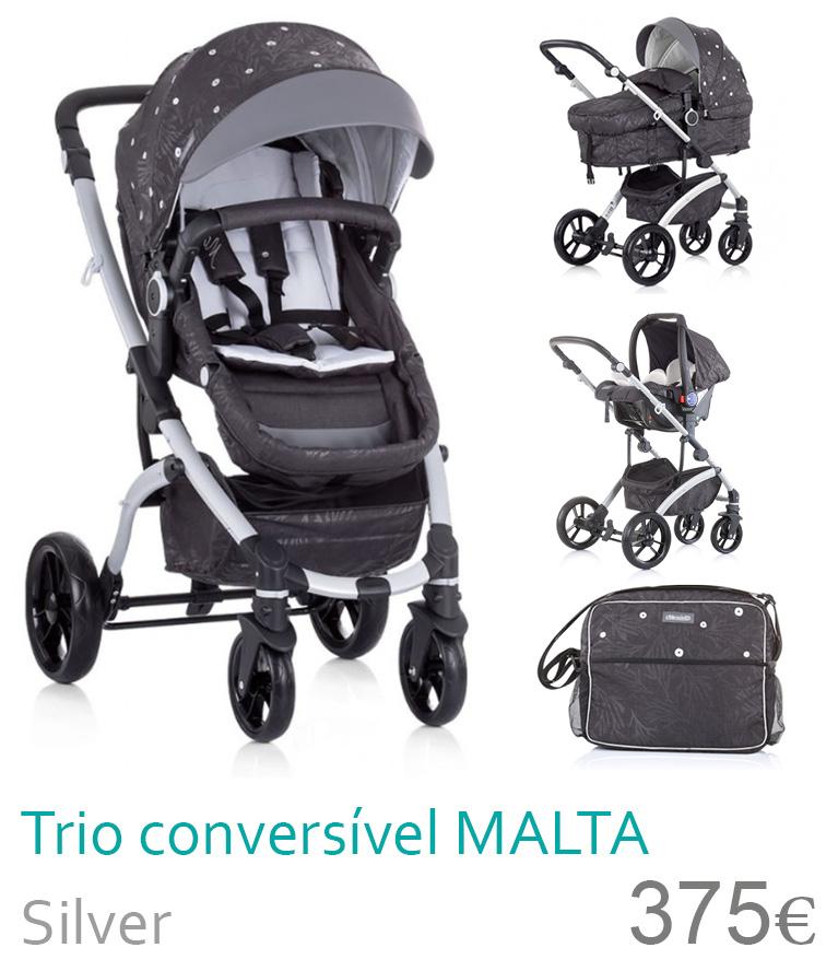 Carrinho trio conversível MALTA Silver