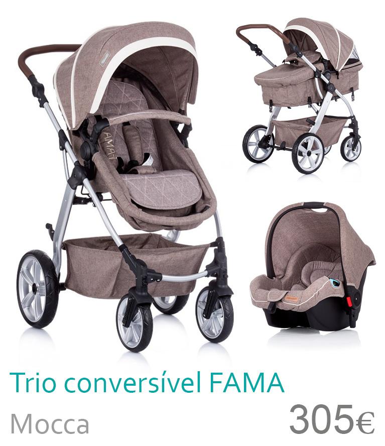 Carrinho trio conversível FAMA Mocca