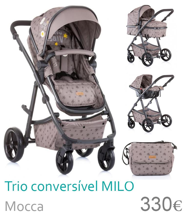 Carrinho trio conversível MILO Mocca