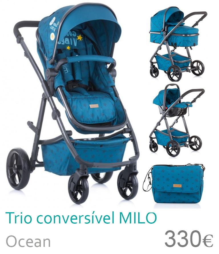 Carrinho trio conversível MILO Ocean