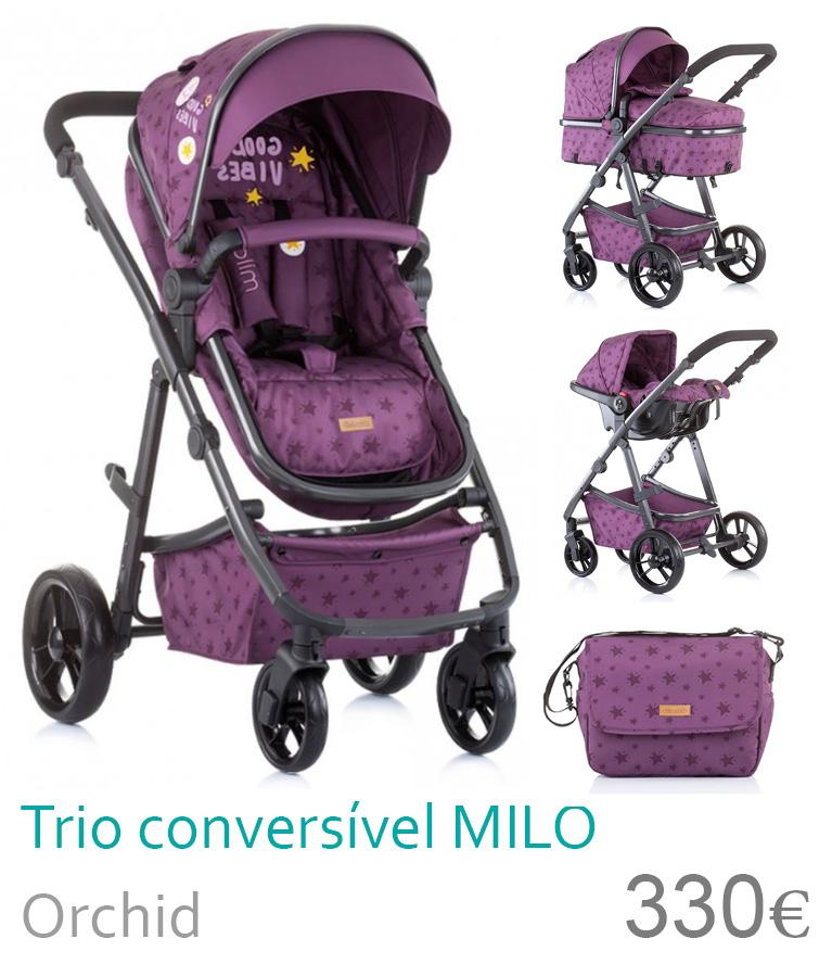 Carrinho trio conversível MILO Orchid