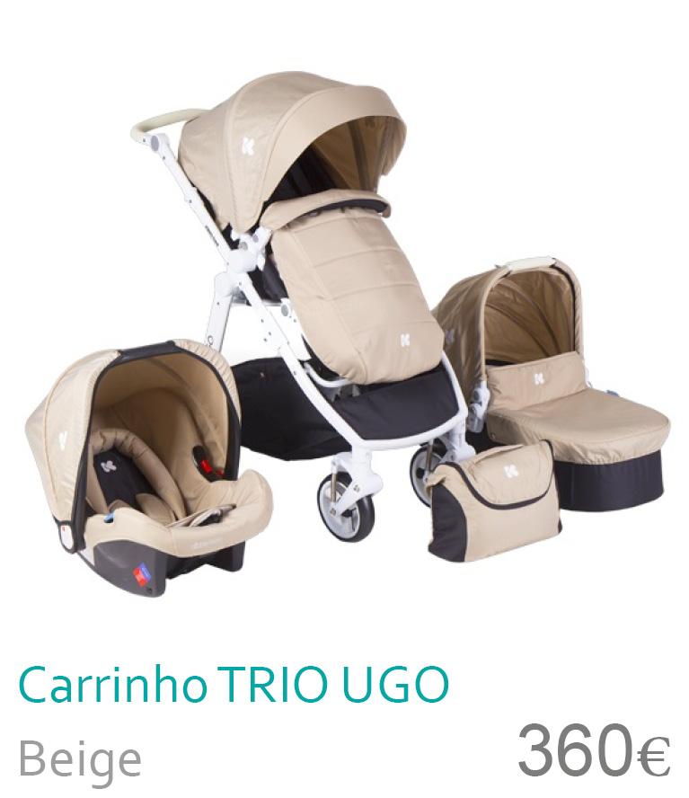 Carrinho trio UGO Beige