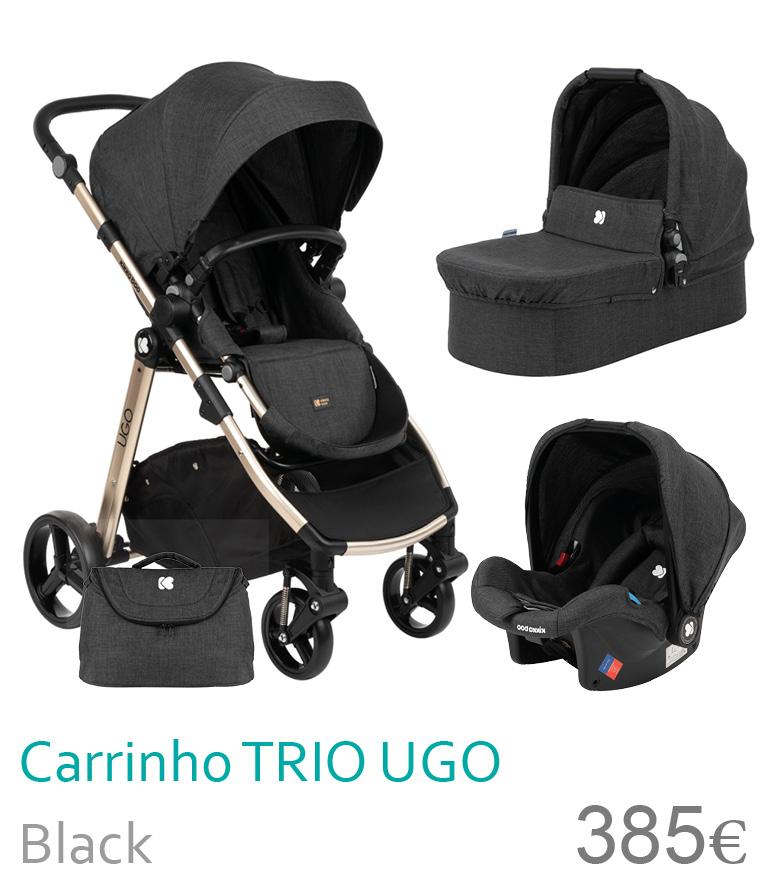 Carrinho trio UGO Black