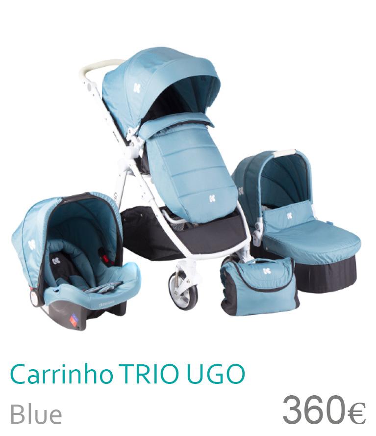Carrinho trio UGO Blue
