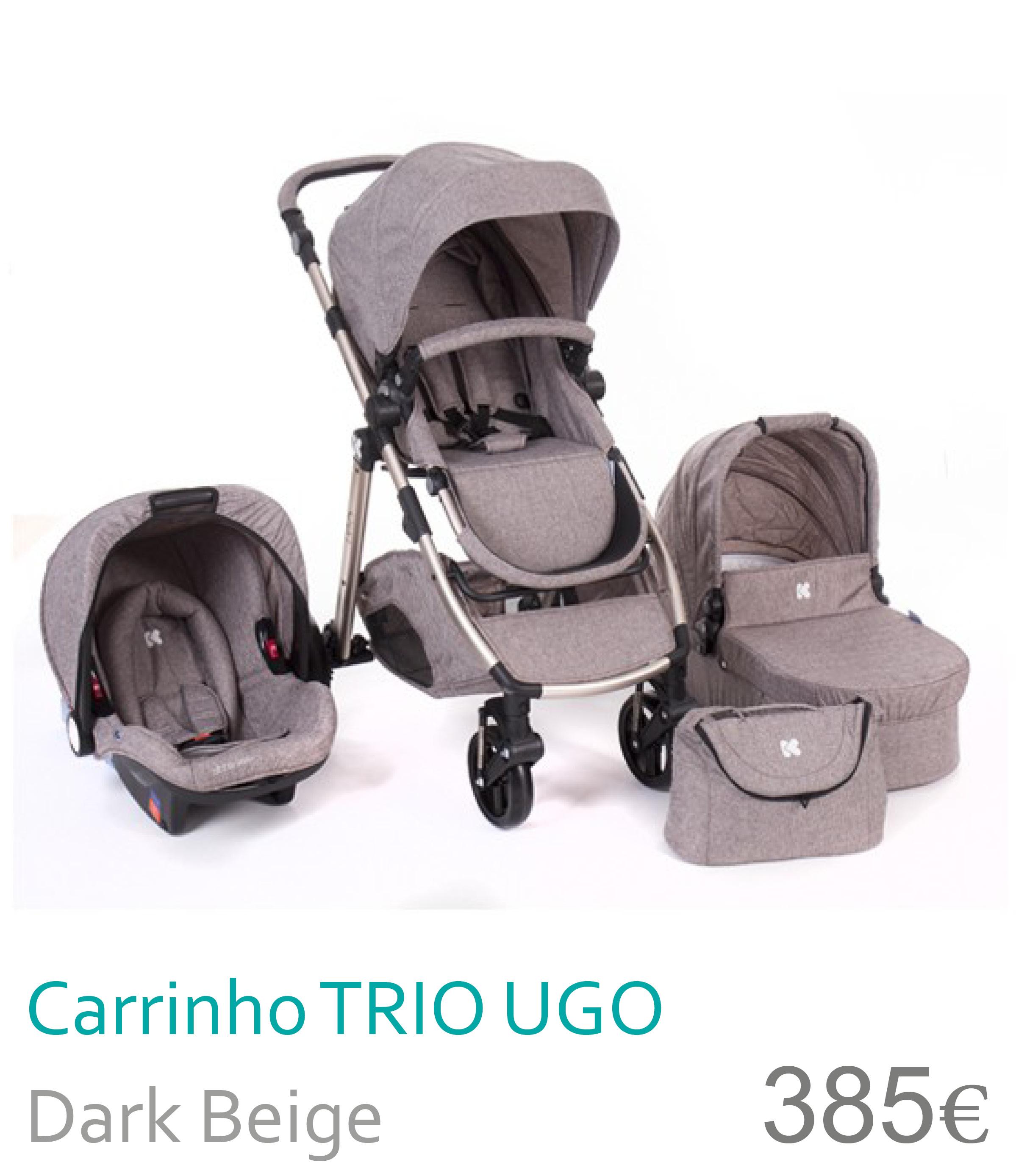 Carrinho trio UGO Dark Beige