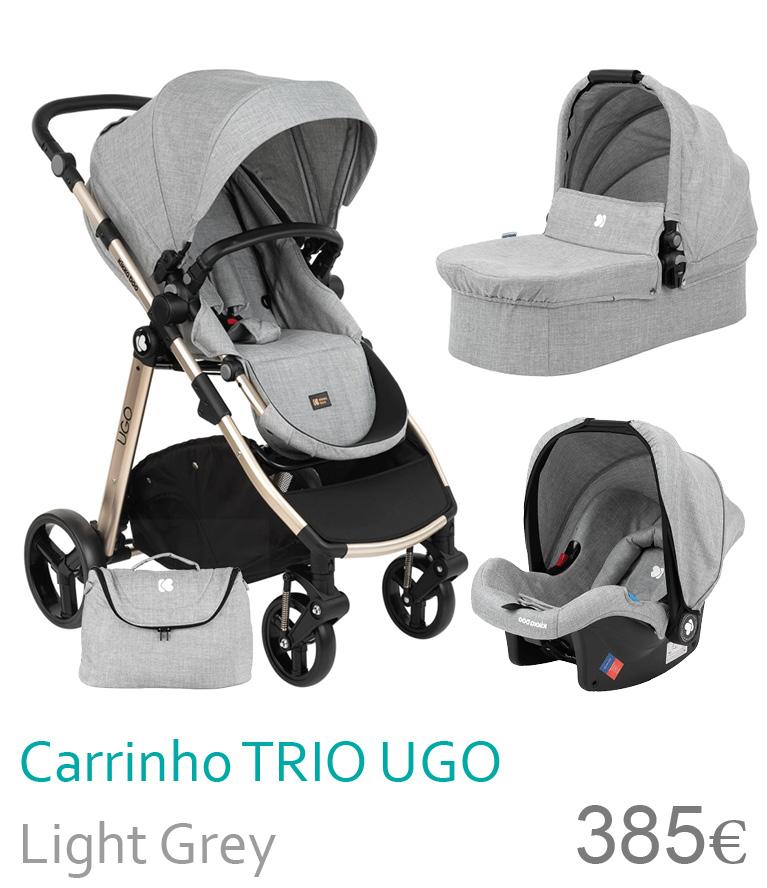 Carrinho trio UGO Dark Grey
