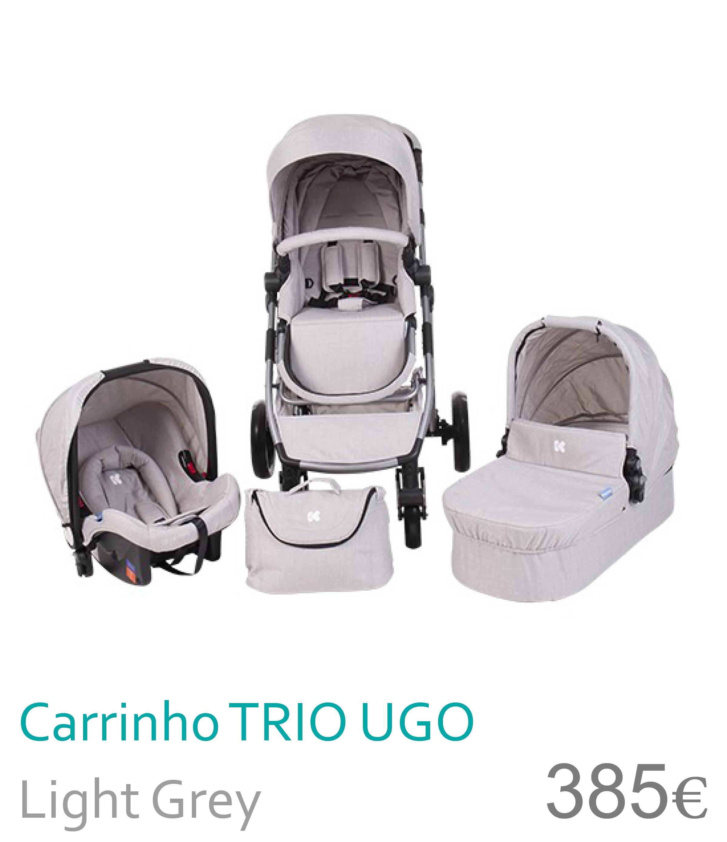 Carrinho trio UGO Light Grey