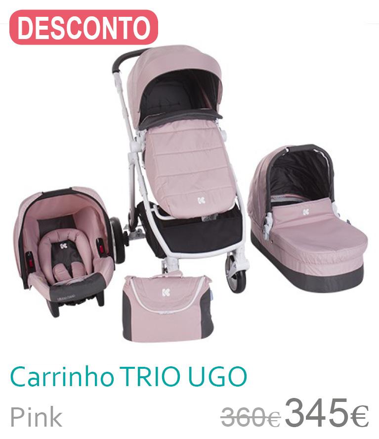 Carrinho trio UGO Pink