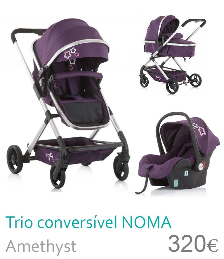 Carrinho bebé trio conversível NOMA Amethyst